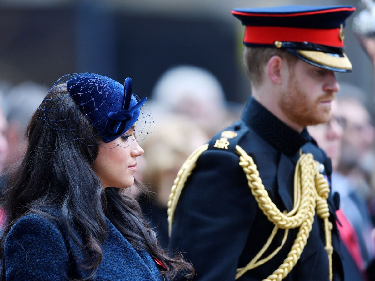 Foto: Los duques de Sussex, en los actos por el Día del Recuerdo. (EFE)