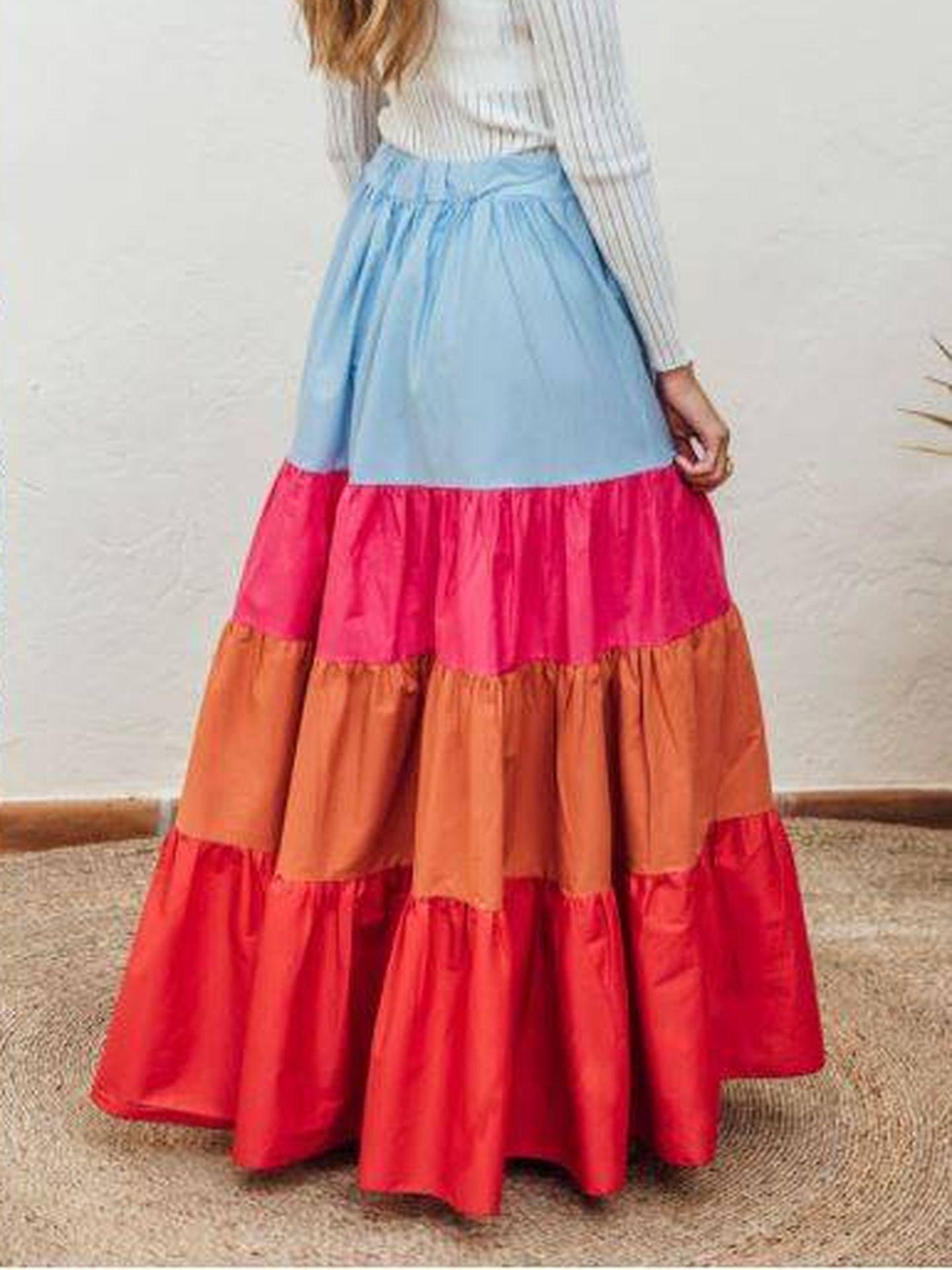Falda más vendida de Carola Monje. (Cortesía)