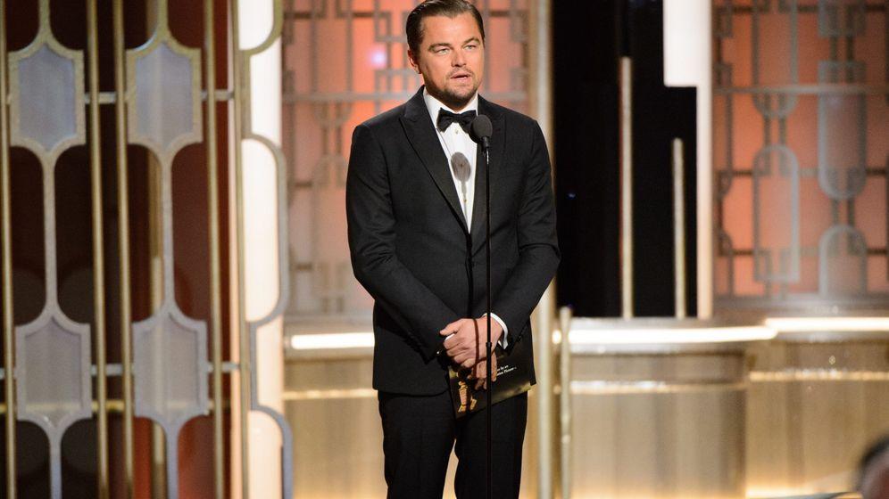 Foto: Leonardo DiCaprio durante la ceremonia de los Globos de Oro. (EFE)