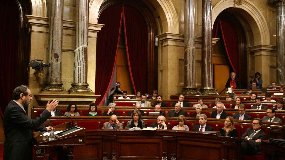 Foto: Sesión del Parlament de Cataluña. (EFE)