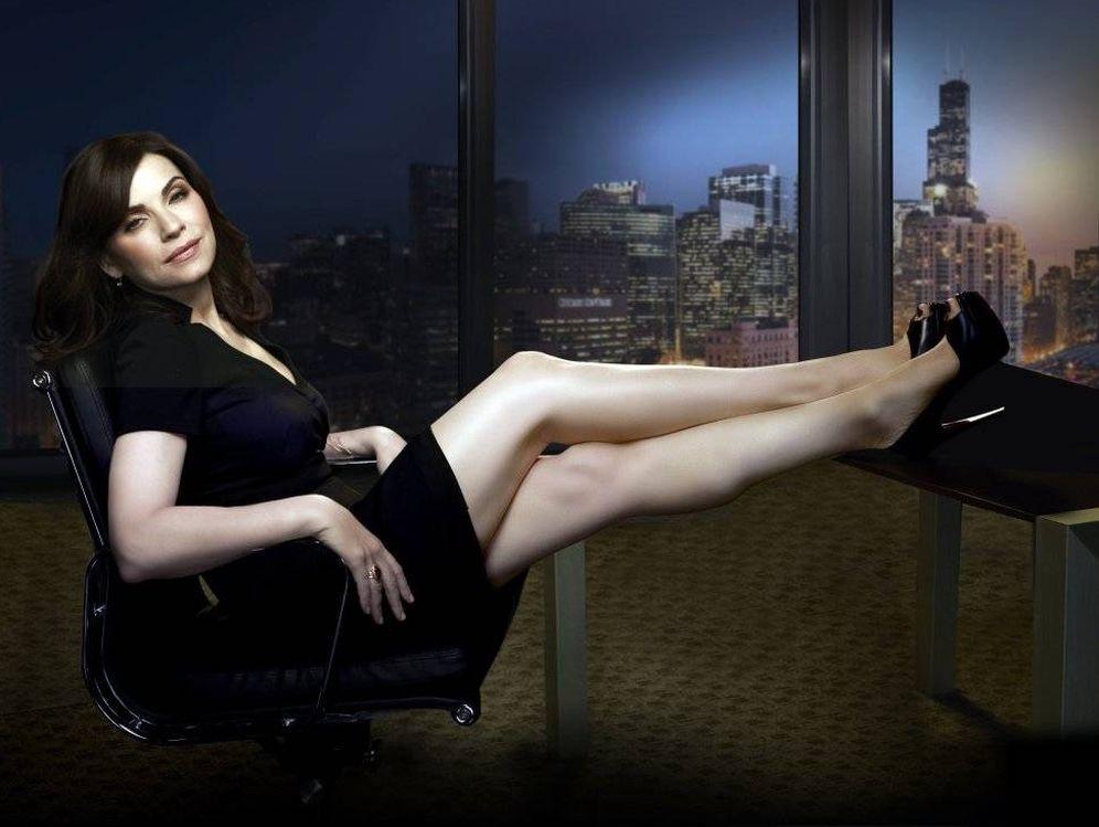 Foto: Julianna Margulies, en el despacho de 'The Good Wife'.