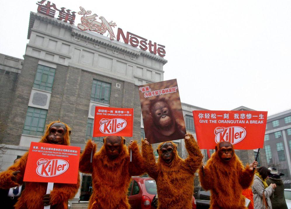 Foto: Greenpeace reclamó a Nestlé que deje de comprar aceite de palma de un proveedor acusado de destruir bosques. (EFE)