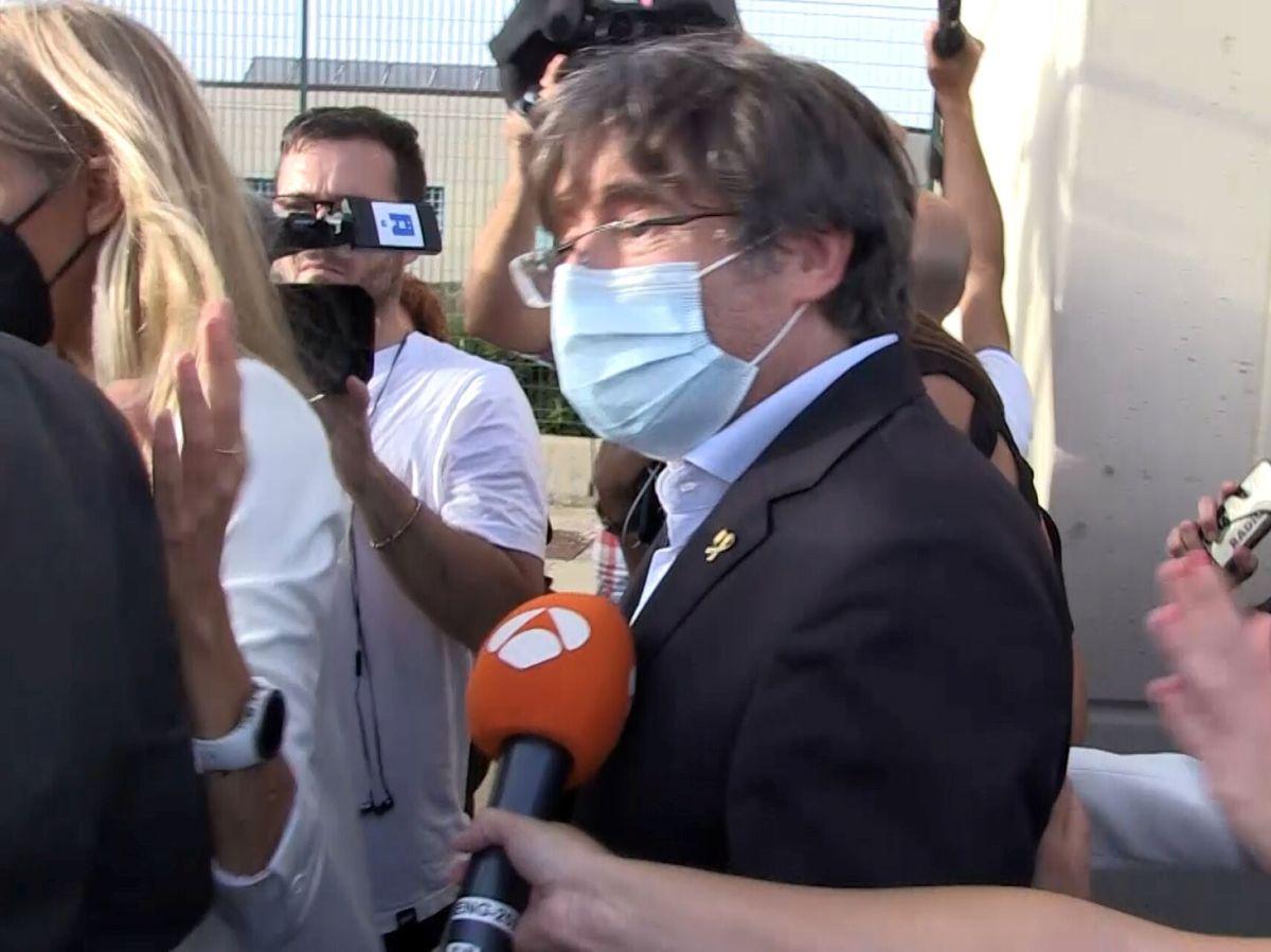 Foto: Carles Puigdemont, a su salida de la cárcel. (Reuters)