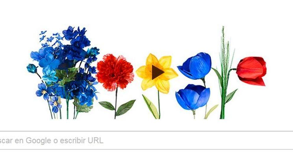Google recibe a la primavera con un 'doodle' floral de lo más colorido