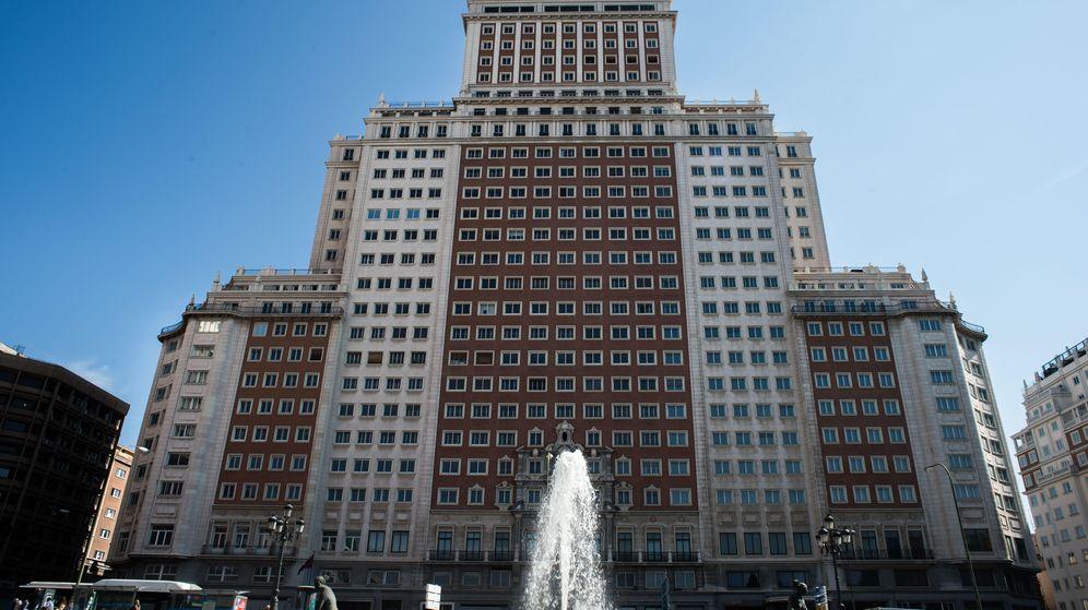 Foto: Vista general del Edificio España en Madrid. (Daniel Muñoz)