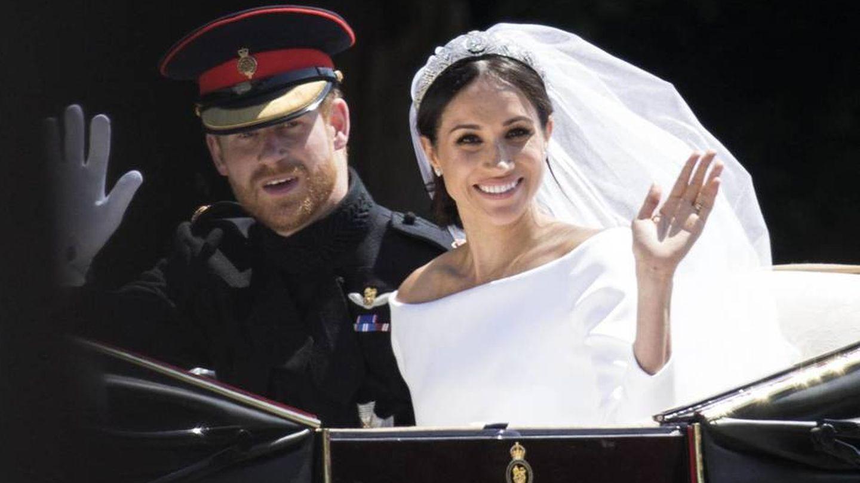 El vestido de boda de la duquesa de Sussex. (Getty)