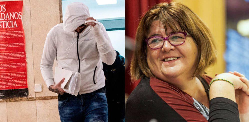 Foto: A la izquierda, el adulto detenido por la violación grupal a una menor tutelada. A la derecha, Xelo Huertas. (EFE)