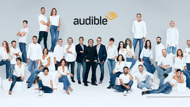 Parte del equipo de Audible España. (Audible)