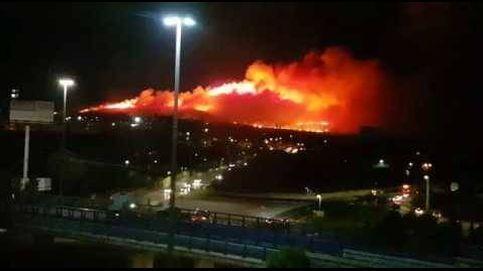 Espectacular incendio en el monte de Guadalajara