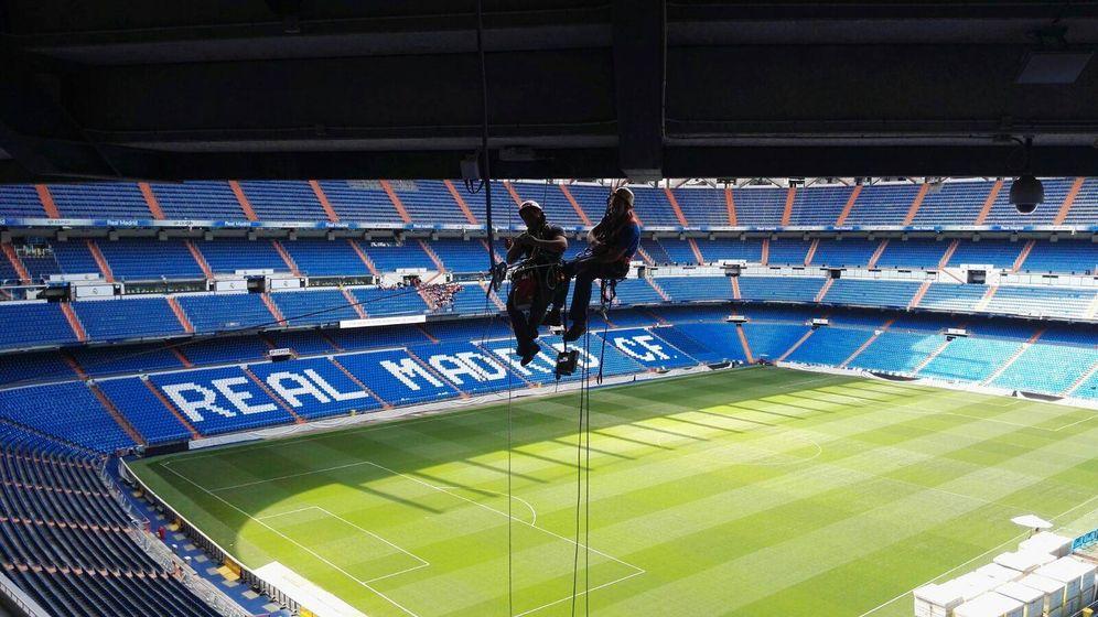 Foto: El Bernabéu, durante unas obras de remodelación en 2017 (Reuters)