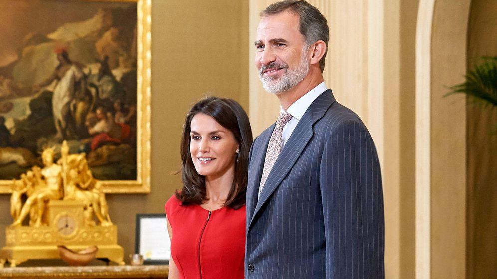 Foto: Los reyes Letizia y Felipe, en un acto reciente. (Getty)