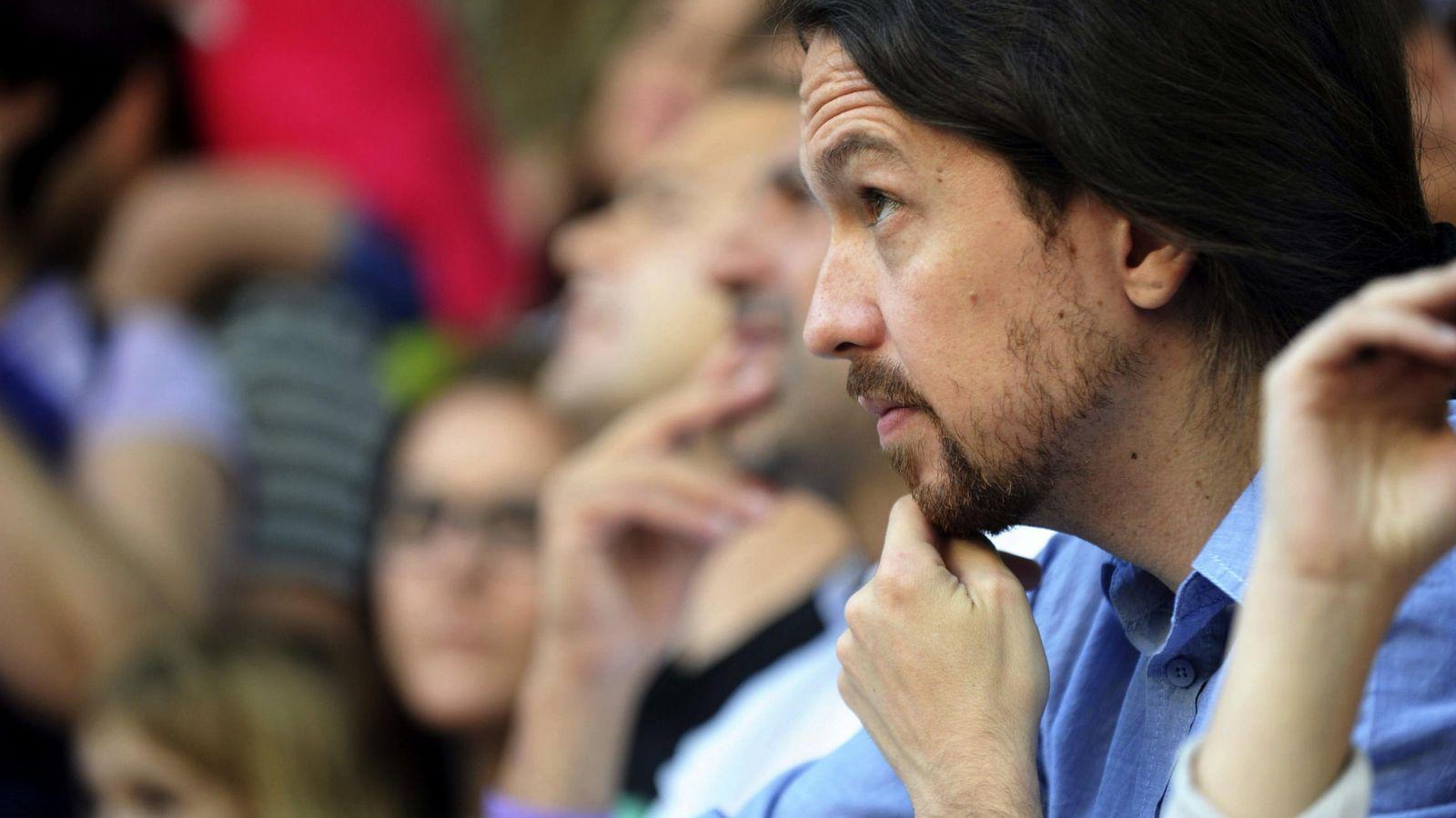 Foto: Pablo Iglesias, en el acto que ha organizado Podemos Castilla-La Mancha con motivo del Día de la comunidad (Efe)
