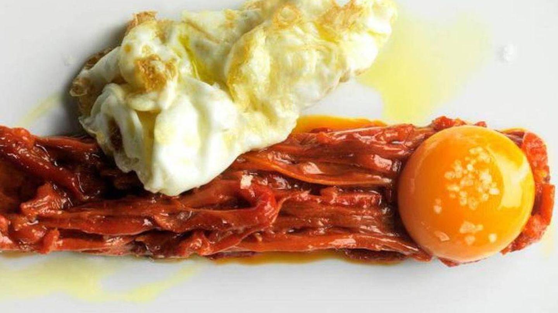 Huevos con pimientos de cristal de La Manduca.