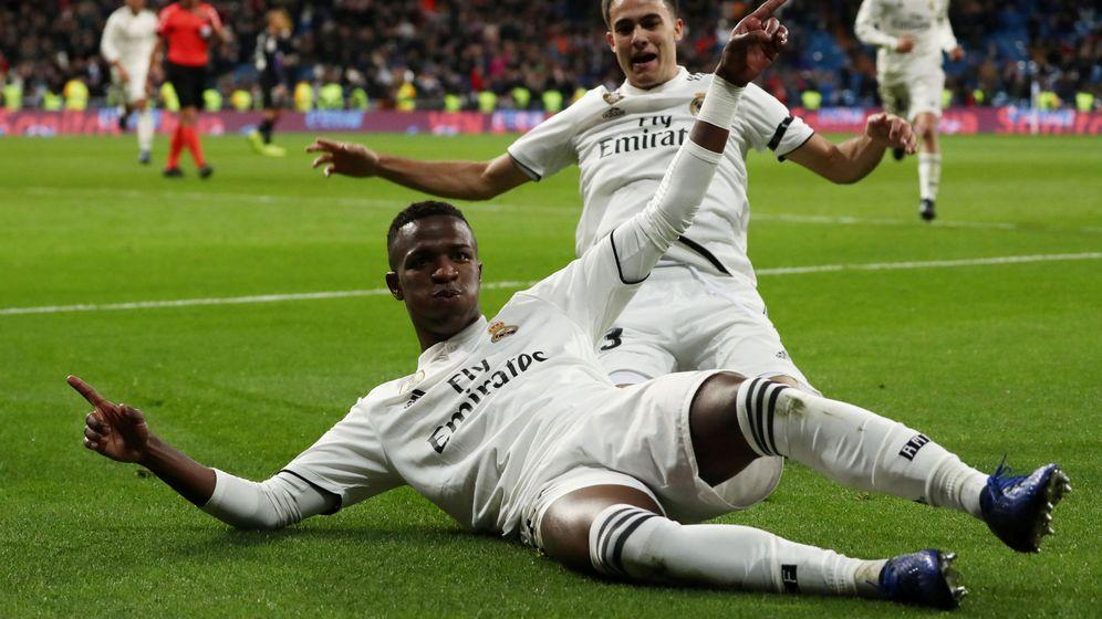 Foto: Vinicius Junior celebra un gol con el Real Madrid. (Reuters)