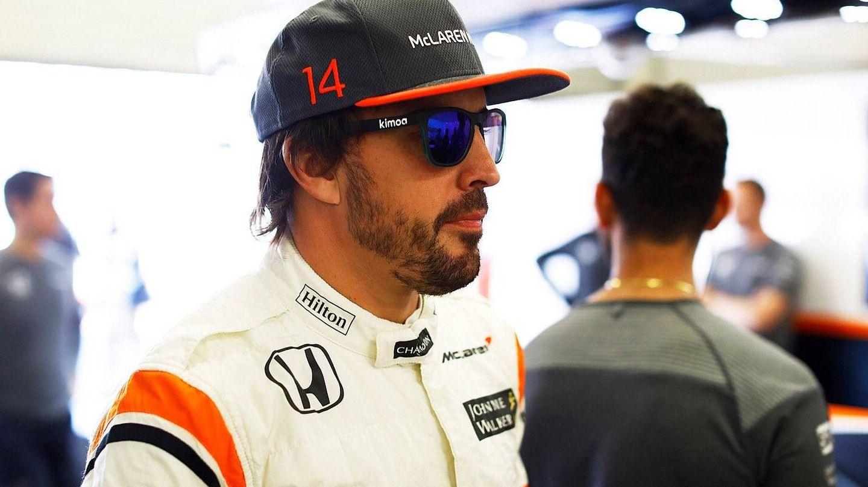 Fernando Alonso acabó muy satisfecho la clasificación de este sábado en México. (Twitter/@McLarenF1)