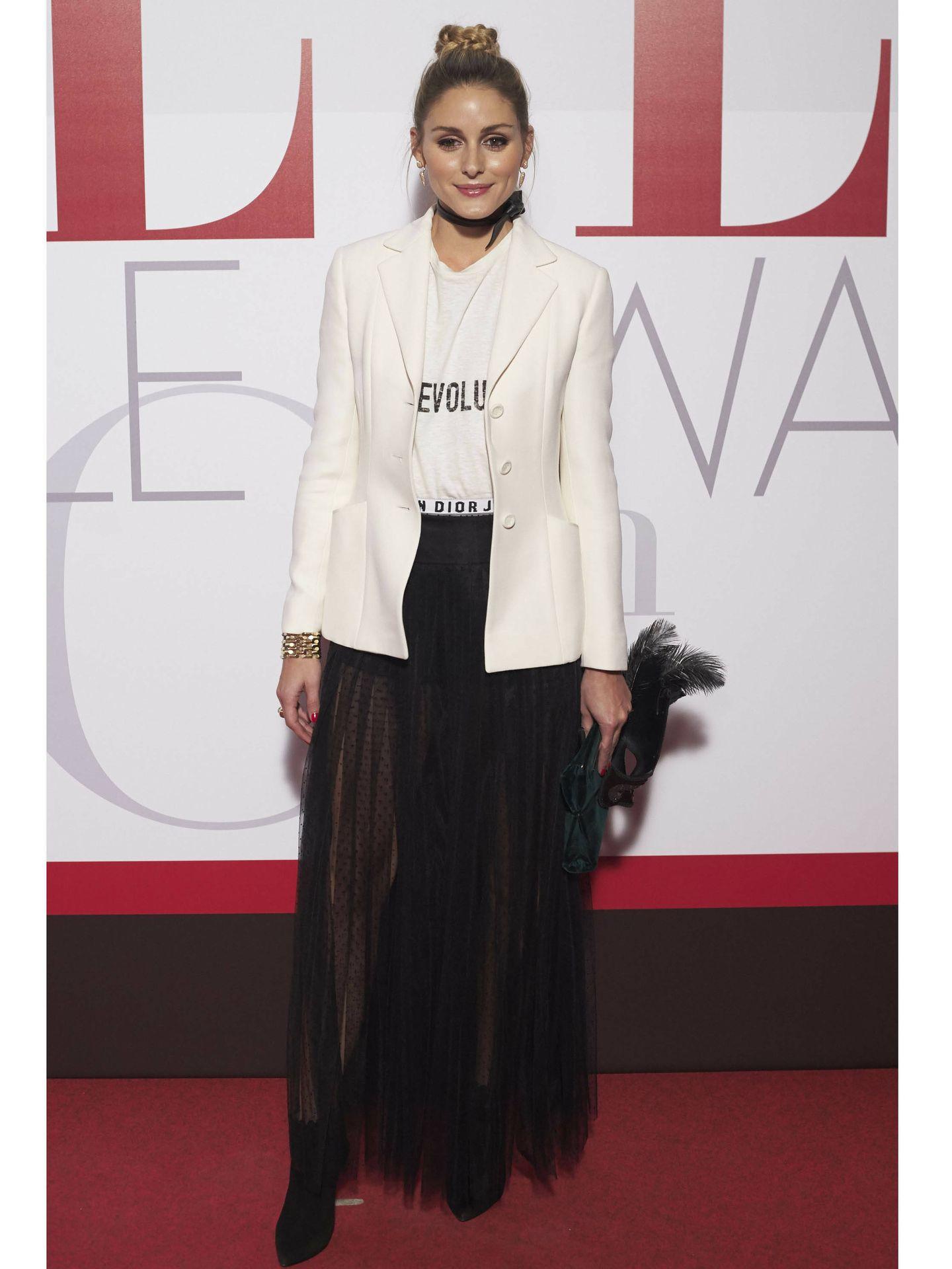 Olivia Palermo, vestida de Dior. (Getty)