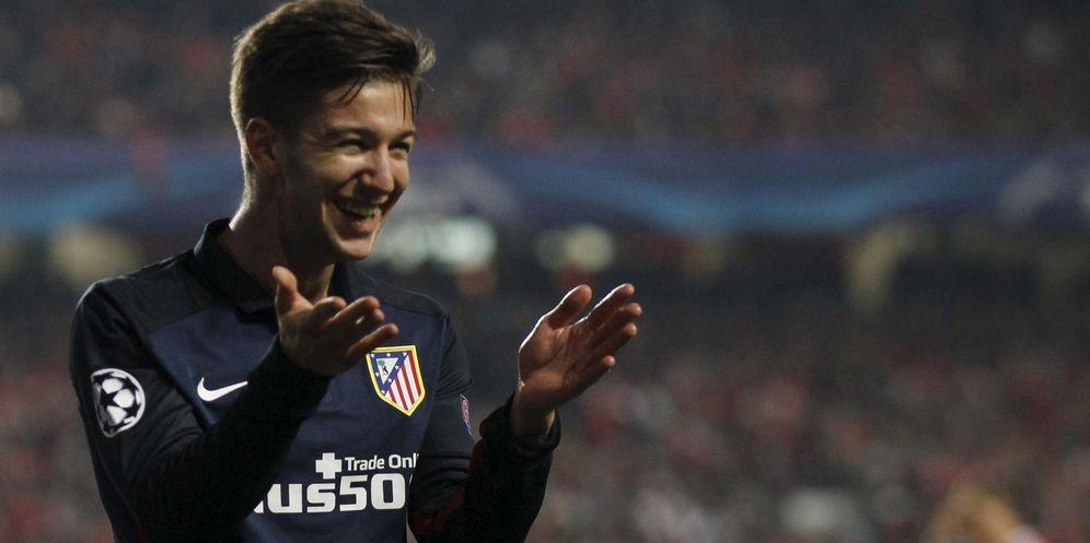 Foto: Vietto celebra un gol marcado con el Atlético la pasada temporada (Reuters)