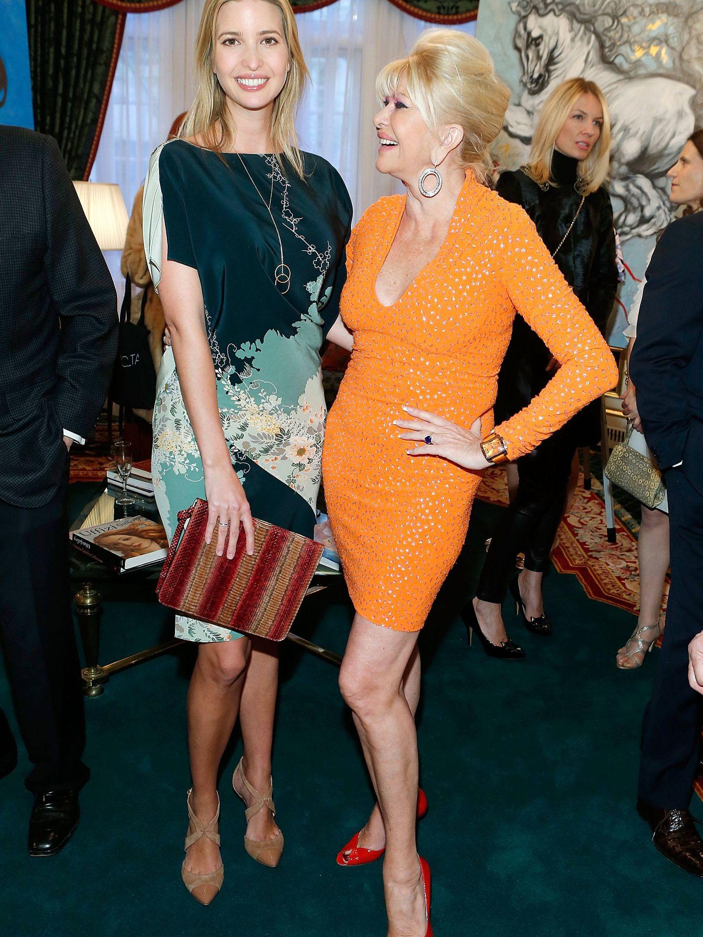 Ivanka Trump, junto a su madre. (Getty)