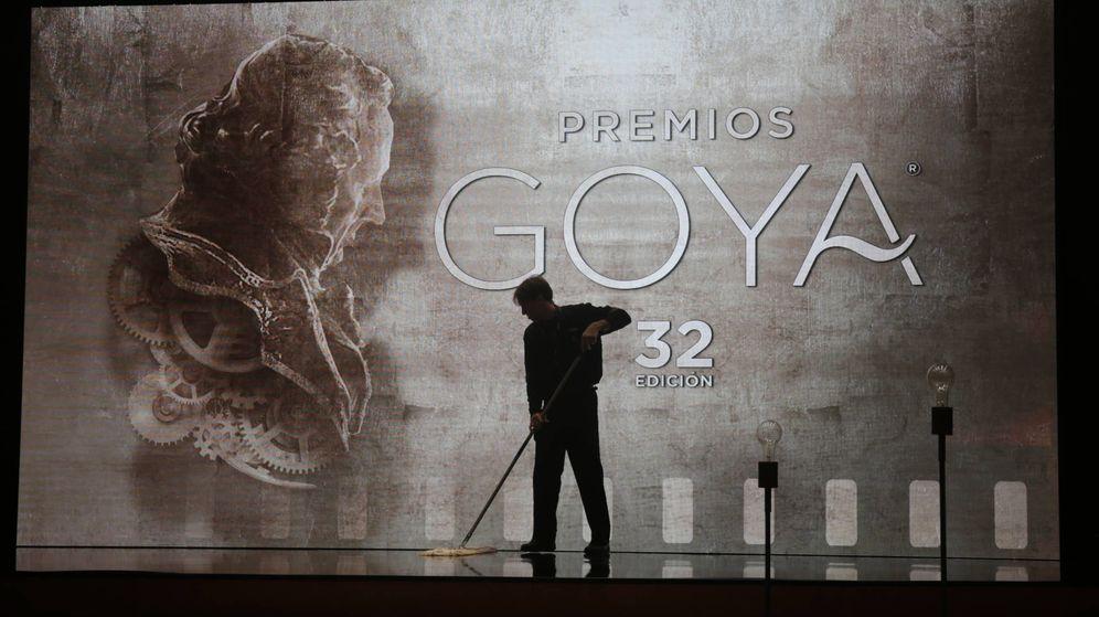 Foto:  El escenario de los Goya una vez terminada la gala. (Gtres)
