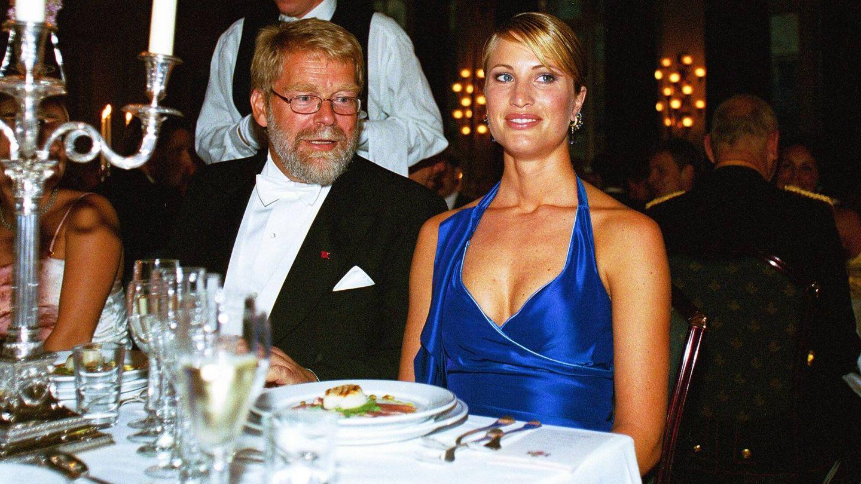 Eva Sannum, durante el banquete. (Getty)