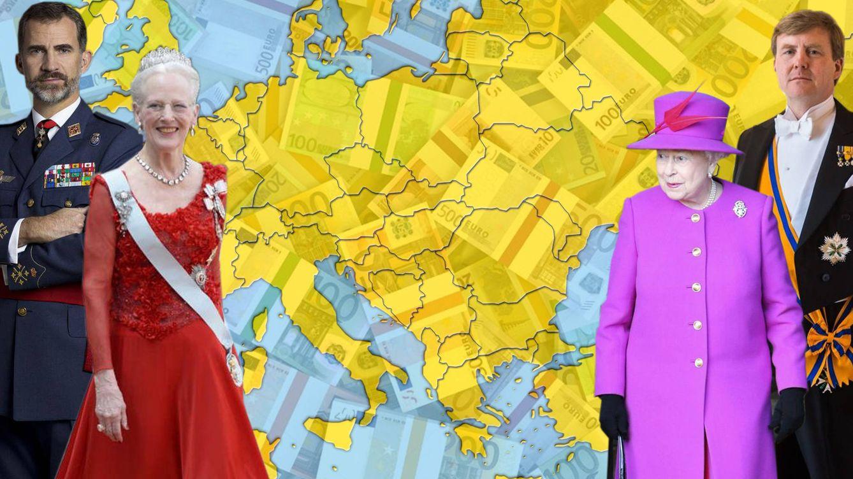 Las fortunas de las monarquías europeas: ¿quiénes son los reyes más ricos y pobres?