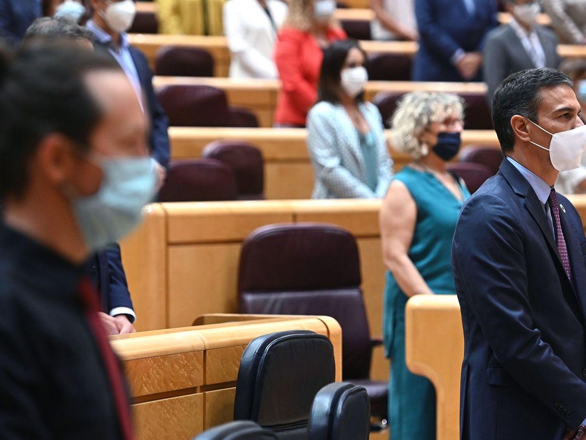 Foto:  El presidente del Gobierno, Pedro Sánchez (d), y el vicepresidente segundo, Pablo Iglesias. (EFE)