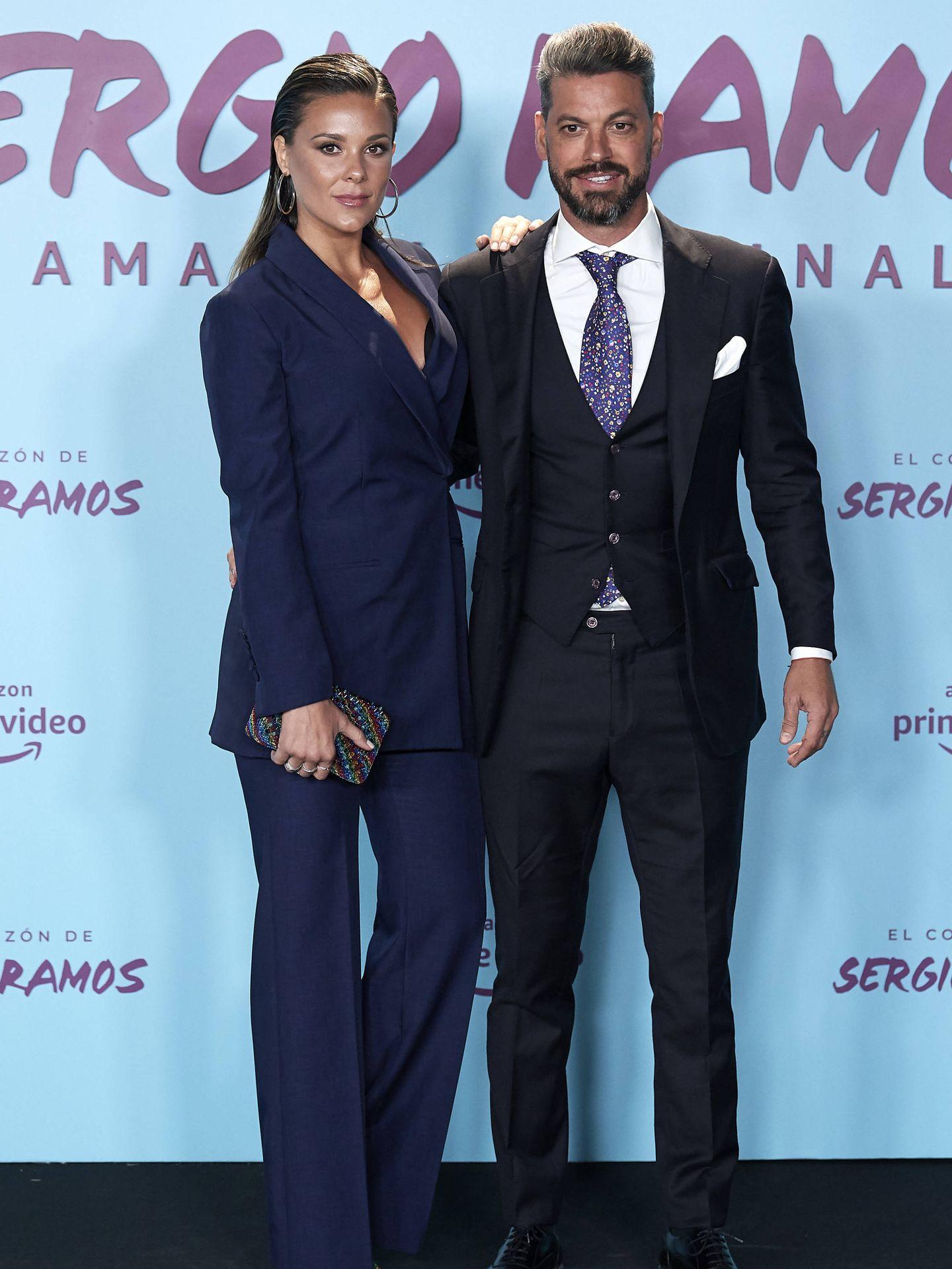 René con Lorena Gómez, en el estreno del documental de Sergio Ramos. (Getty)