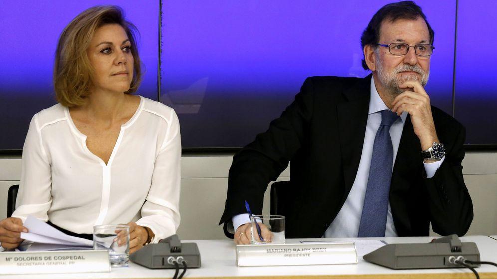 Foto: Rajoy y Cospedal pactaron la dimisión de Soria y la vicepresidenta se libra del 'marrón' (Efe)