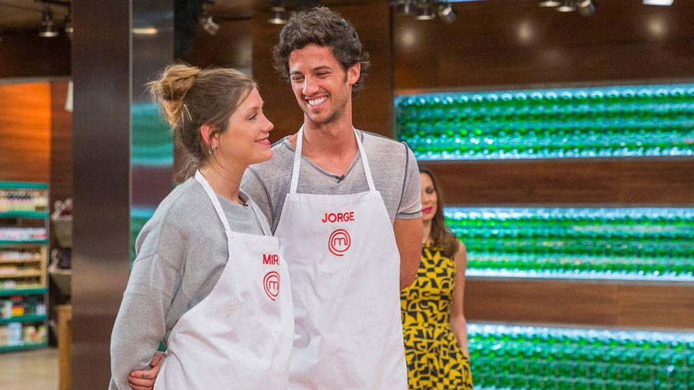 Foto: Miri y Jorge en 'MasterChef'. (TVE)