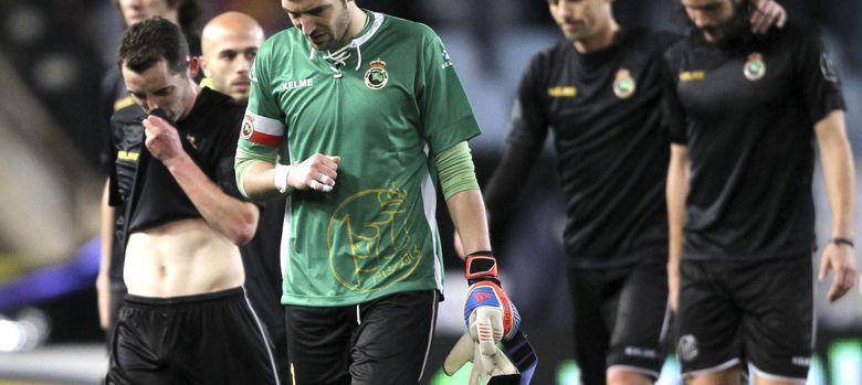 Foto: Los jugadores del Racing se niegan a jugar la Copa si no dimite la directiva.