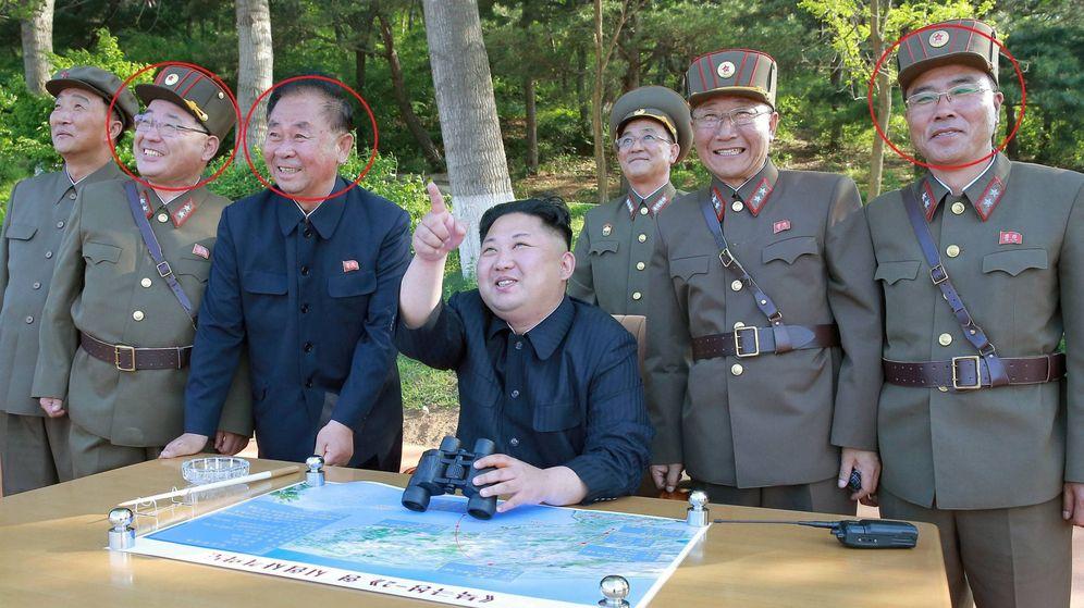 Foto: Kim Jong Sik, Ri Pyong Chol y Jang Chang Ha. (Reuters)