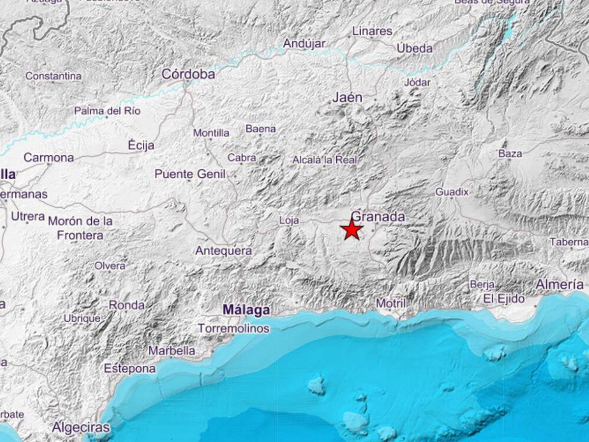 Foto: El punto exacto donde se ha registrado el terremoto. (IGN Sismología)