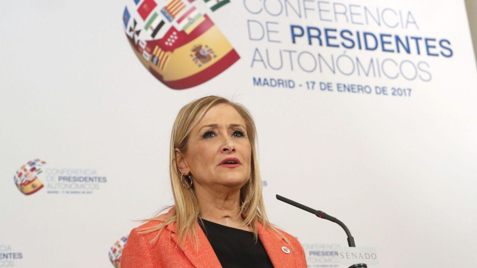Foto: La presidenta de la Comunidad de Madrid, Cristina Cifuentes, en la Conferencia de Presidentes (Efe)