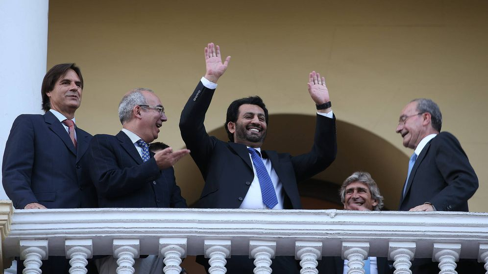 Foto: Al-Thani, en Málaga. (EFE)
