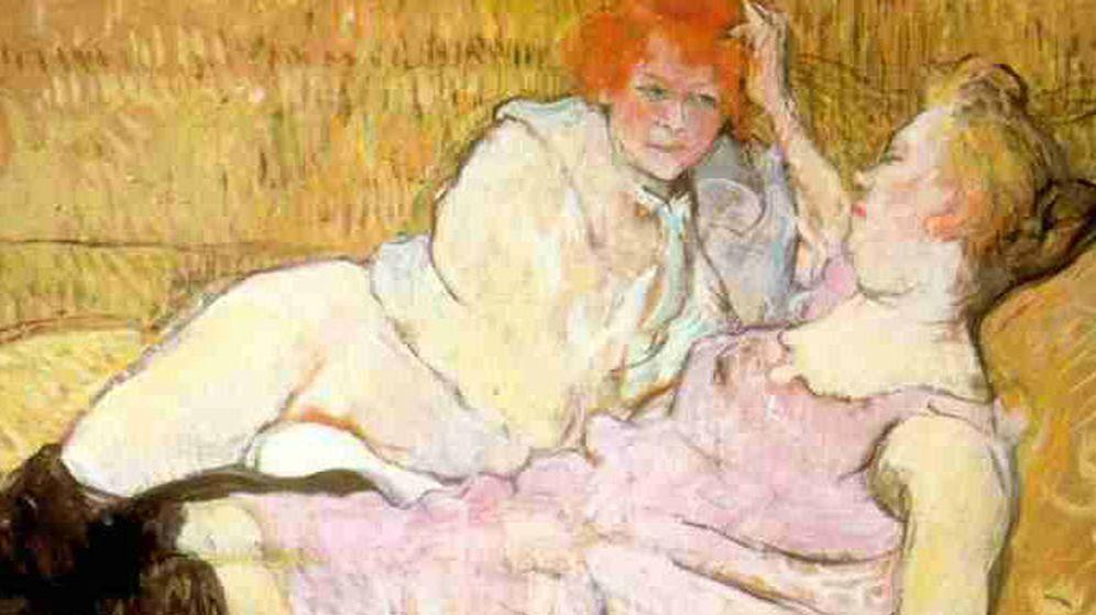 Foto: Las dos prostitutas del cuadro de 'Le sofa', de Toulouse-Lautrec
