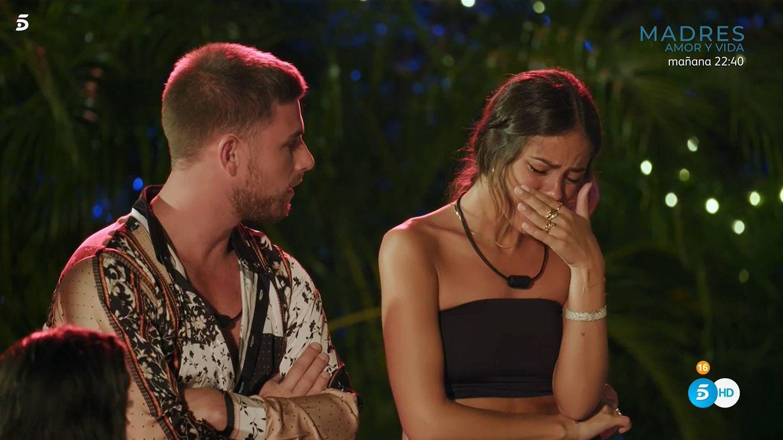 Tom y Melyssa, en 'La isla de las tentaciones 2'. (Mediaset España)
