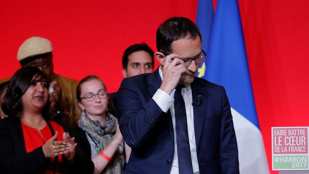 Hamon admite su fracaso y pide el voto por Macron para frenar a Le Pen