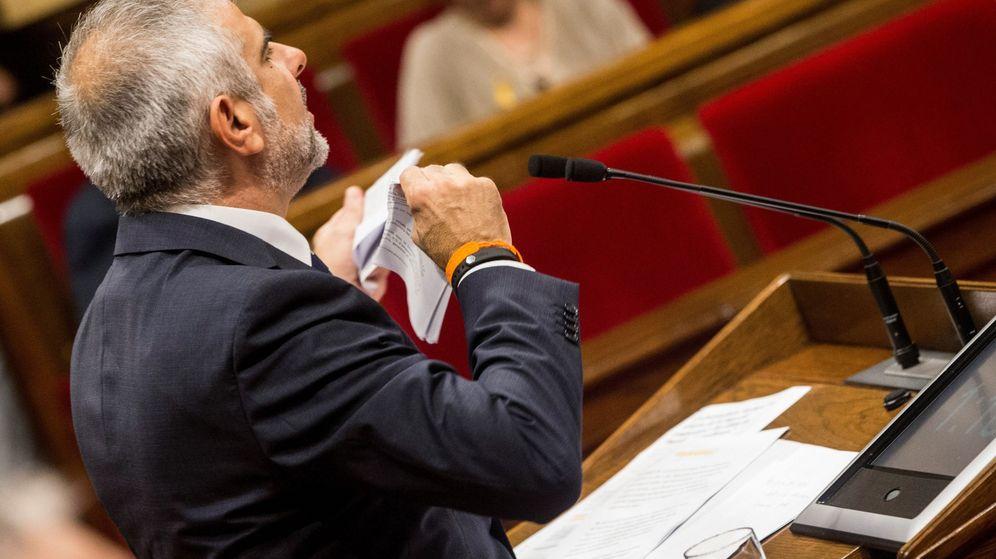 Foto: El portavoz de Ciudadanos (Cs) en el Parlament, Carlos Carrizosa