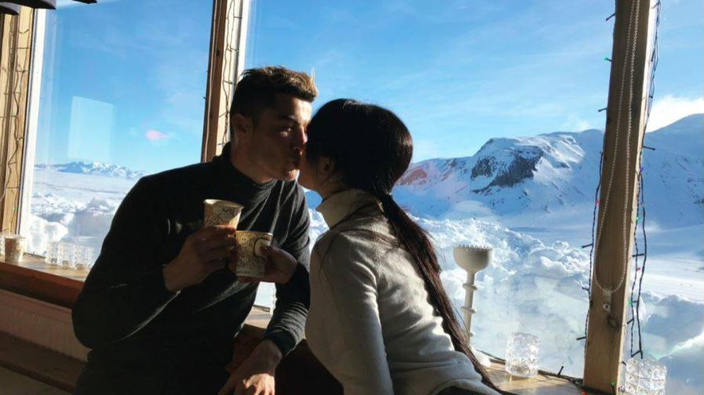 Foto: Cristiano Ronaldo y Georgina Rodríguez en Islandia. (Instagram)