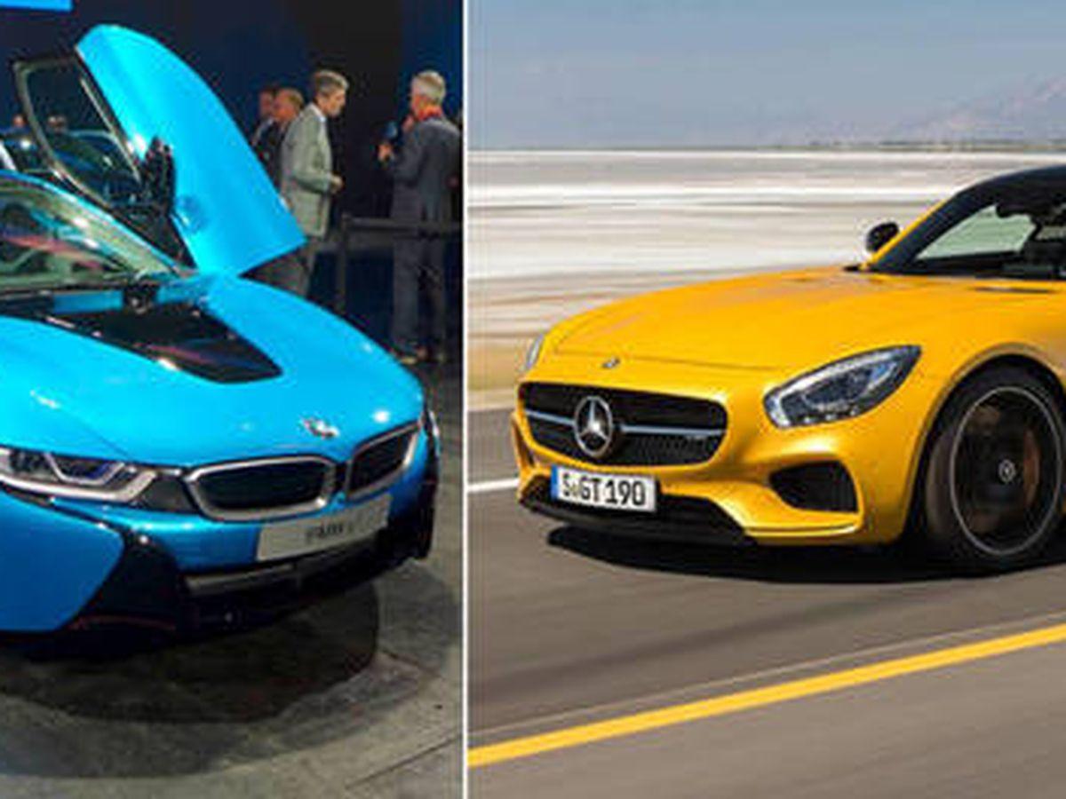 Foto: BMW i8 (i) y Mercedes AMG propiedad del magnate venezolano Roberto Rincón Bravo. (EC)