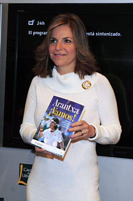 Arantxa Sánchez Vicario presentando su libro