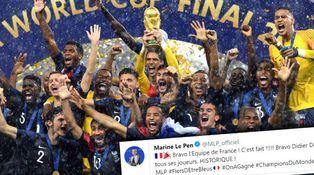 Un equipo francoafricano gana el Mundial y Le Pen lo celebra