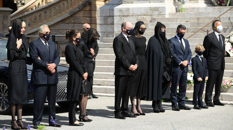 El funeral de Elisabeth de Massy en Mónaco. (Getty)