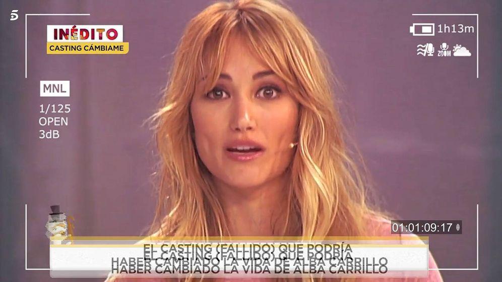 Foto: Alba Carrillo, en el casting para 'Cámbiame'. (Mediaset)