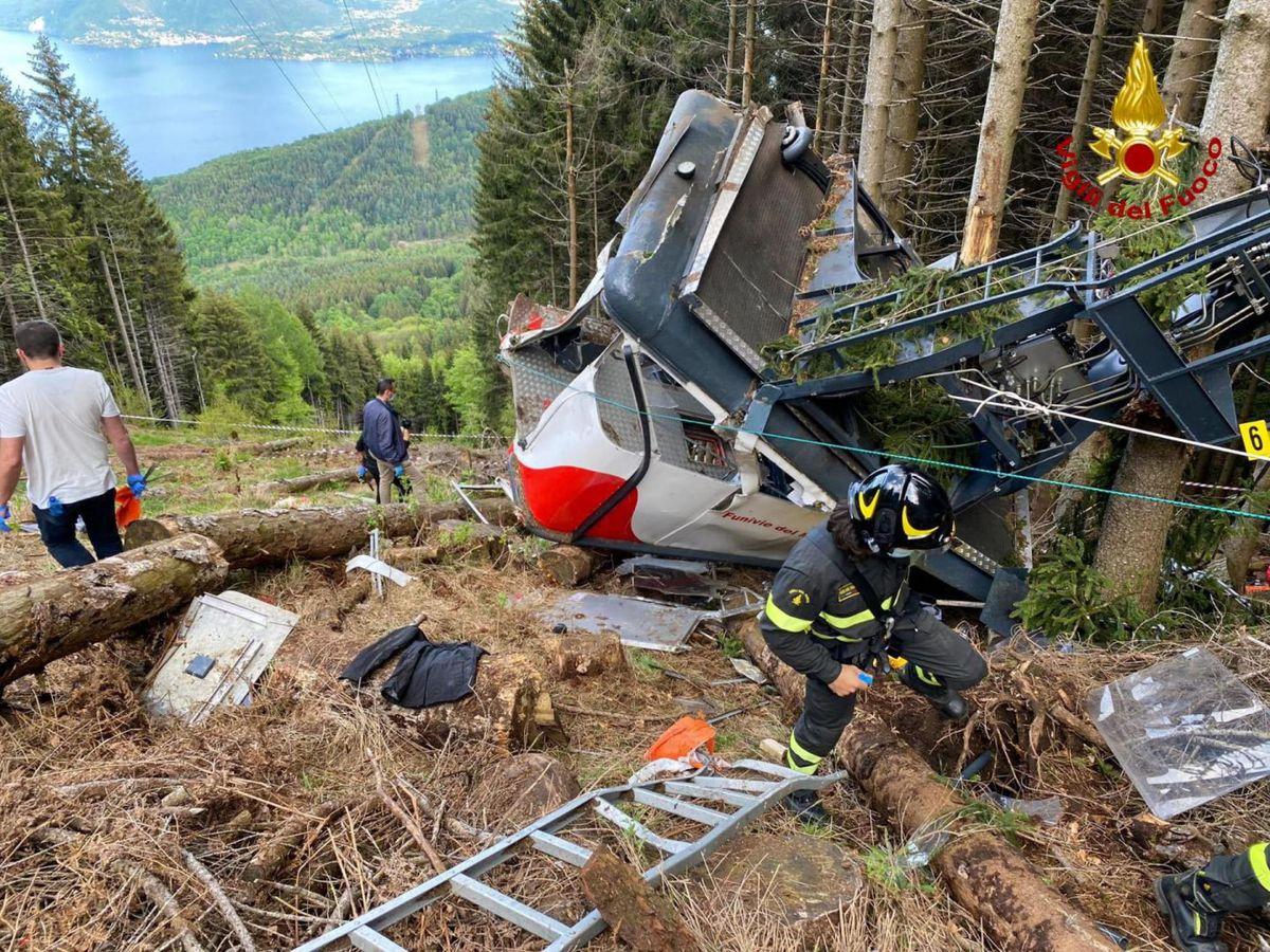 Foto: Lugar del accidente. (EFE)