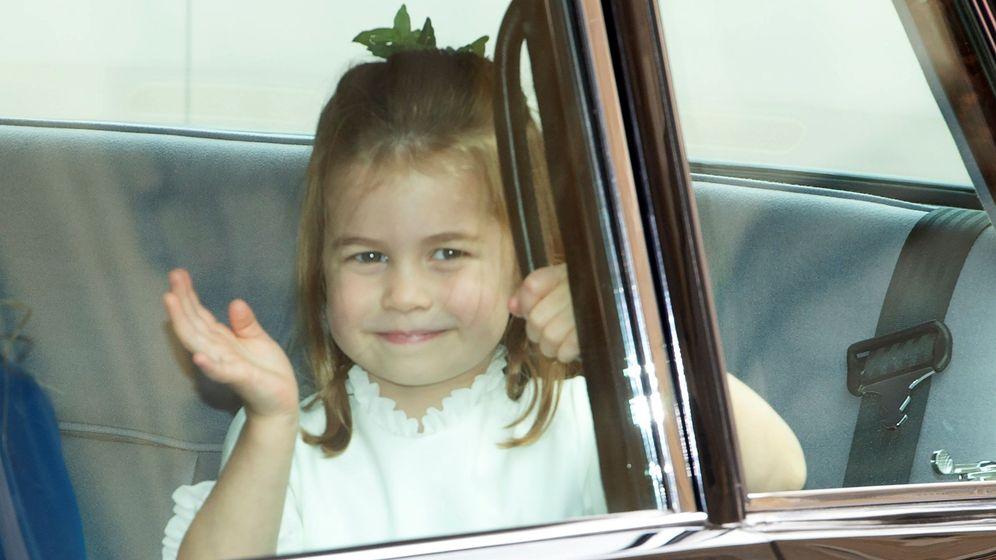 Foto: Charlotte de Cambridge en la boda de la princesa Eugenia. (EFE)