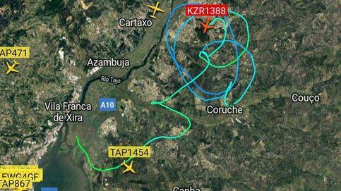 A un avión le fallan los mandos en Lisboa y logra aterrizar gracias a dos F-16