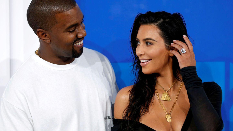 Kim Kardashian y Kanye West. (Reuters)