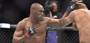Post de Épico Usman en UFC Chile: gana a la leyenda Maia con las dos manos rotas