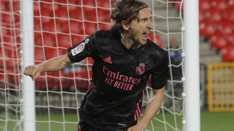 El Real Madrid, renovado con el canterano Miguel Gutiérrez, persigue la Liga (1-4)
